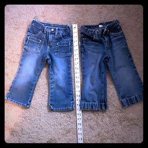 Denim LOT - 2T - 2 pairs.